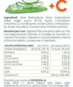 Etichetta Succo di Aloe Vera, Fitosofia